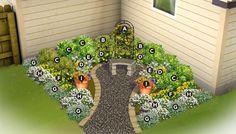 Northwest Region Corner Garden Plan