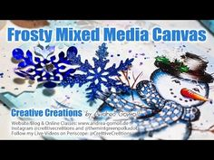 Tutorials to get you into the Holiday Mood Part 2: Snowman Canvas » Cre8tive Cre8tions by Andrea Gomoll