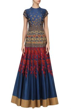 IBFW presents Navy blue embroidered gown available only at Pernia's Pop Up Shop. Designer Wear, Designer Dresses, Hippy Chic, Wear Store, Indian Fashion Designers, Clothing Size Chart, Blue Gown, Pernia Pop Up Shop, Indian Couture