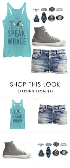 """""""I speak whale"""" by coffeeismysoul ❤ liked on Polyvore featuring Fifth Sun, Converse and New Look"""