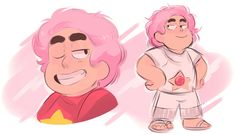If Steven had actually dyed his hair pink