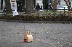 Hope in a robot. Kacie Kinzer NYU project tweenbots.com