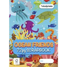 Studymate Ocean Friend Premium Scrapbook 72 Page Construction For Kids, Construction Paper, Photo Cutter, Mini Monster, Tumblr Stickers, Colour Board, Colored Paper, Cover Design, Scrapbook Paper