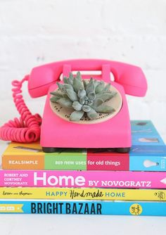 DIY Teen Room Decor Ideas for Girls   DIY Rotary Phone Succulent Planter   Cool Bedroom Decor, Wall Art & Signs, Crafts, Bedding, Fun Do It Yourself Projects and Room Ideas for Small Spaces http://diyprojectsforteens.com/diy-teen-bedroom-ideas-girls
