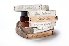 Personalized wish braceletleather  by Justbelievebybelinda