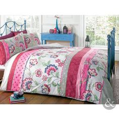 Just Contempo King Size Duvet Cover ( kingsize ) Cotton Blend RETRO ORIENTAL DUVET COVER - Floral Reversible Red & Pink King Size Bedding Set, Pink Just Contempo http://www.amazon.co.uk/dp/B00J08HAY2/ref=cm_sw_r_pi_dp_hXEBwb00RX42J