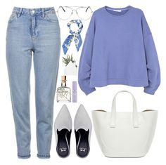"""""""317. Sea of Lavender"""" by ass-sass-in ❤ liked on Polyvore featuring Topshop, MANGO and Kate Somerville"""