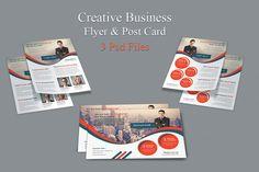 Creative Business Flyer & Post Card by DeviserWeb on Creative Market