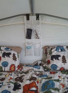 Gotta love those shoe storage bags for pop up campers. Camper Hacks, Diy Camper, Camper Life, Rv Campers, Camper Trailers, Camper Ideas, Camping Set Up, Camping Glamping, Pop Up Tent Trailer