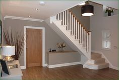 Scatterdells Lane Staircase: cut string softwood flight of stairs. Stair Builder, Oak Stairs, Curved Staircase, Banisters, White Oak, Glass Panels, Open Plan, Loft, Study