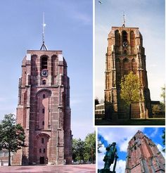 Oldehove Church Tower, Leeuwarden, the Netherlands. The Old Tower in Leeuwarden, Fryslan, NL, was supposed to be even taller and grander than the images above show, but after construction began in 1529 and the tower reached a certain height and weight, it began to lean and all work on it was halted in 1533.