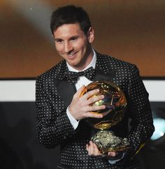 Lionel Messi wins his fourth Ballon d'Or in four years.