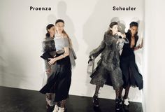 Anne Catherine Lacroix, Karolin Wolter, Liisa Winkler, Liya Kebede by David Sims for Proenza Schouler Fall Winter 2015-2016 5