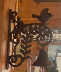 Cast Iron Wall Mount Bird Bell