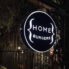 Love this simple acrylic sign for a restaurant. HoME Burgers in Bogota, Colombia. One of the best burgers I've had in a while. Simple and elegant the restaurants design is cozy and minimalist.