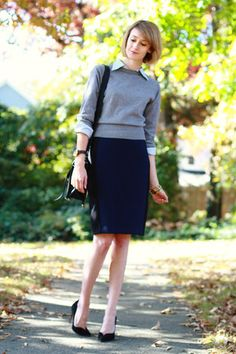 what to wear to work with navy - Google Search