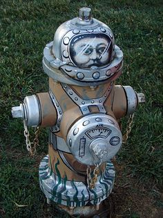 Painted Fire Hydrant (street art great, amazing,, beautiful, cool, interesting, creative)