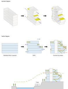 Image 19 of 25 from gallery of Escalier Gobancho / ETHNOS. Concept Models Architecture, Architecture Concept Diagram, Architecture Portfolio, Architecture Design, Architecture Program, Residential Complex, Residential Architecture, Mix Use Building, Building Design