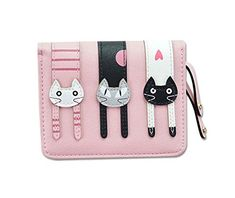 Cute Coin Sac à main petite queue chat portefeuille avec fermeture éclair téléphone Portemonnaie