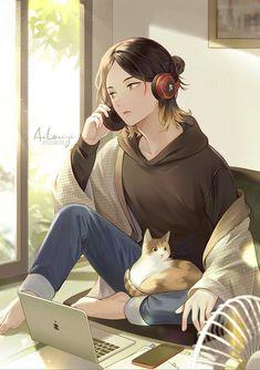 Anime Wallpaper Phone, Kawaii Wallpaper, The Lest Of Us, Kenma Kozume, Cute Anime Guys, I Am Game, Haikyuu Anime, Cool Art, Tokyo