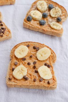 8. Peanut Butter Breakfast Toast Four Ways #healthy #quick #recipes https://greatist.com/health/52-healthy-meals-12-minutes-or-less