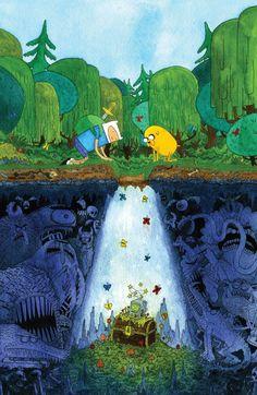 Taps Webcomic Superstars For 'Adventure Time' And 'Marceline' Variant Covers Adventure Time Finn, Adventure Time Comics, Adventure Time Poster, Adventure Cartoon, Adventure Movies, Nature Adventure, Abenteuerzeit Mit Finn Und Jake, Finn Jake, Fan Art