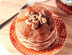 Whole Wheat Banana Nut Pancakes - Vegan Does It