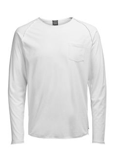 LIGHT LONG SLEEVE LONG-SLEEVED T-SHIRT, White, large