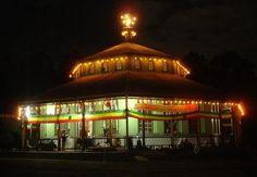 Traditional Ethiopian Orthodox church building in Addis Abeba (St. Teklehaimanot church)