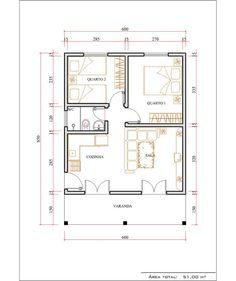 Little House Plans, Small Modern House Plans, My House Plans, Small House Design, House Floor Plans, Drawing House Plans, House Construction Plan, 2 Bedroom House Plans, Model House Plan