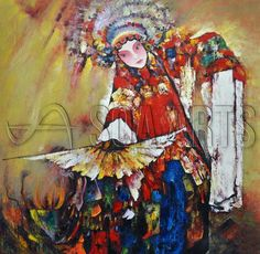 Vintage Peking Opera Chinese Oil Painting for Wholesale