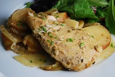 Dijon Chicken Slow Cooker Recipe - Great blog with weight watchers points