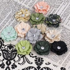 Nature Garden Melisse Flowers By Prima Marketing Lovely little blooms made from handmade mulberry paper and accented with a crystal center. Made to coordinate with the Nature Garden collection. Garden S, Scrapbook Paper, Scrapbooking, Flower Designs, Paper Flowers, Cardmaking, Embellishments, Nature, Handmade Gifts