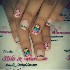 Cute Nail Art, Cute Nails, Dream Nails, Manicure And Pedicure, Nail Art Designs, Fluorescent Nails, Skin Care Products, Nails Inspiration, Nail Arts