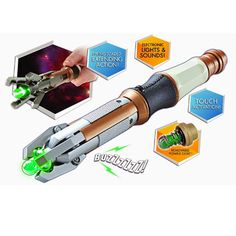 A new Doctor usually (but not always) means a new sonic screwdriver and the Doctor Who Twelfth Doctor's Touch Control Sonic Screwdriver Replica has arrived so Whovians can now imagine themselves as Peter Capaldi's Twelfth Doct