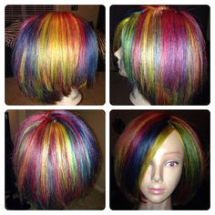 Multidimensional color placement using only the 3 primary colors red, yellow and blue done by Megan Perry