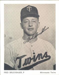 1961 Minnesota Twins 4x5 Photos #NNO Fred Bruckbauer Front
