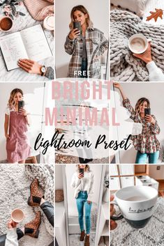 Free Lightroom Preset Bright Minimal - Cappuccino and Fashion Lightroom Gratis, Presets Lightroom, Vsco Presets, Photo Editing Vsco, Instagram Photo Editing, Instagram Feed, Free Instagram, Photo Editing Free, Image Editing