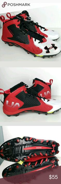 newest 4d861 4fbcf Under Amour Mens Clutch Fit Spine Red Cleats Sz 15 Bought these Factory  Direct. Never