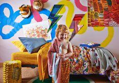 Kip & Co | AW15 Radiowave (saffron) Fitted Sheet – Kids