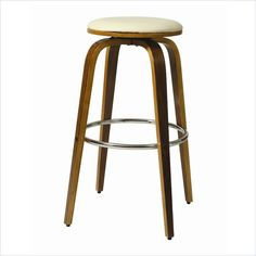 Lowest price online on all Pastel Furniture Yohkoh Swivel Bar Stool in Ivory - QLYH215X7997869