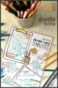 As teachers, we need to be able to use the resources we have as easily as we possibly can. This post offers a set of solutions for using simple Doodle Note templates in a wide variety of ways. Want to give your students the amazing brain-based learning benefits of visual note-taking, but do not have time for much prep? Read this post on how to use doodle note templates and how to DIY for free! Math Games For Kids, Fun Math Activities, Notes Template, Templates, Visual Note Taking, Brain Based Learning, Visual Memory, You Doodle, Bubble Letters