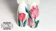 Несложные Тюльпаны! Флористика! Весенний Дизайн Ногтей!