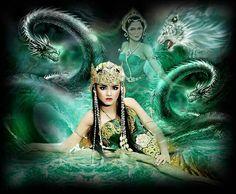Lukisan Mistis Fantasy Paintings, Fantasy Art, Sea Queen, Model Kebaya, My Step Mom, Shiva Shakti, Angel Art, Beautiful Models, Indian Art