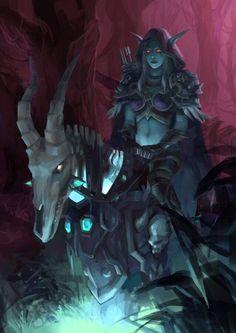 Lady Sylvanas Windrunner-world of warcraft Art Warcraft, World Of Warcraft 3, Warcraft Heroes, Warcraft Characters, Fantasy Characters, Dark Fantasy, Fantasy Art, Final Fantasy, Lady Sylvanas