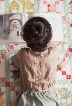 Beautiful Handmade Linen Dress | TsiomikKids on Etsy