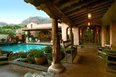 Spanish Courtyard, Courtyard Pool, Courtyard House Plans, Spanish Colonial Homes, Spanish Style Homes, Spanish House, Spanish Revival, Hacienda Style Homes, Casa Patio