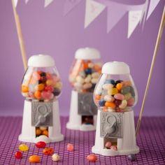 Mini Kaugummiautomat als Gastgeschenk - gefüllt mit Jelly Beans aus der Farbpalette