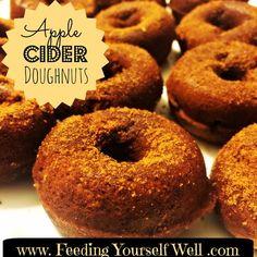 AIP & Paleo - Apple Cider Doughnuts - www.FeedingYourselfWell.com