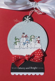 i love snow globes Stamped Christmas Cards, Xmas Cards, Holiday Cards, Noel Christmas, Christmas Greetings, Christmas Things, Christmas Ideas, Christmas Crafts, Scrapbooking